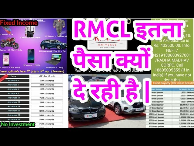 RMCL New Galaxy Plan,RMCL Itna Paisa Kiu De Rhi Hai ?, RMCL Business Opportunity