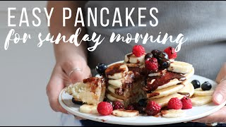 Easy Pancakes for Sunday Morning (Vegan)