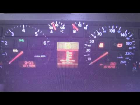 Audi A4 B5 Engine EPC Dash Warning Light Symbol How To Remove