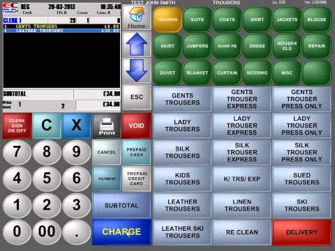 Dry Cleaning Software - Hope Pos