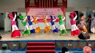 BHANGRA - R.K ARYA College Nawanshahr @ Punjabi University,Patiala 2016