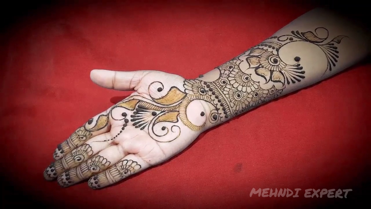 Mehndi Hands With Watch : New beautiful indo arabic mehndi design for hands ll