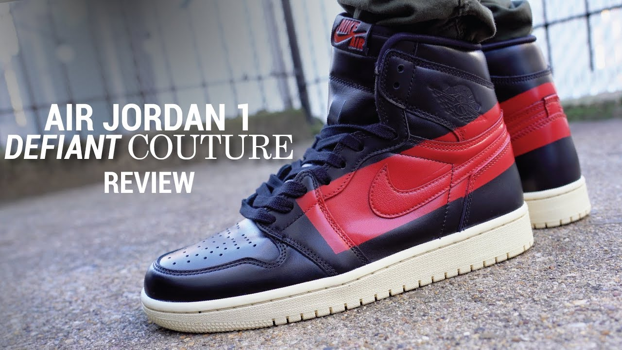 02aea56d84b6f4 Air Jordan 1 Defiant Couture Review   On Feet - YouTube