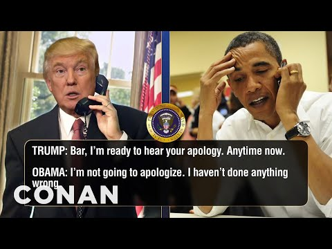 Thumbnail: Trump Calls Obama To Talk About Microwaves - CONAN on TBS