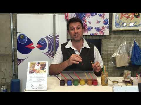 How to do Paper Marbling & Ebru, basic instructions by James Mouland