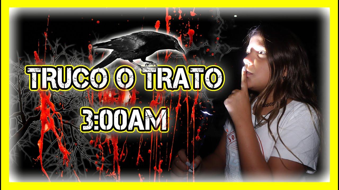 **NO JUEGUES** ⛔️ No HAGAS TRUCO O TRATO a LAS 3AM ☠️ ¡ES Una PESADILLA! Paula Blanco #halloween