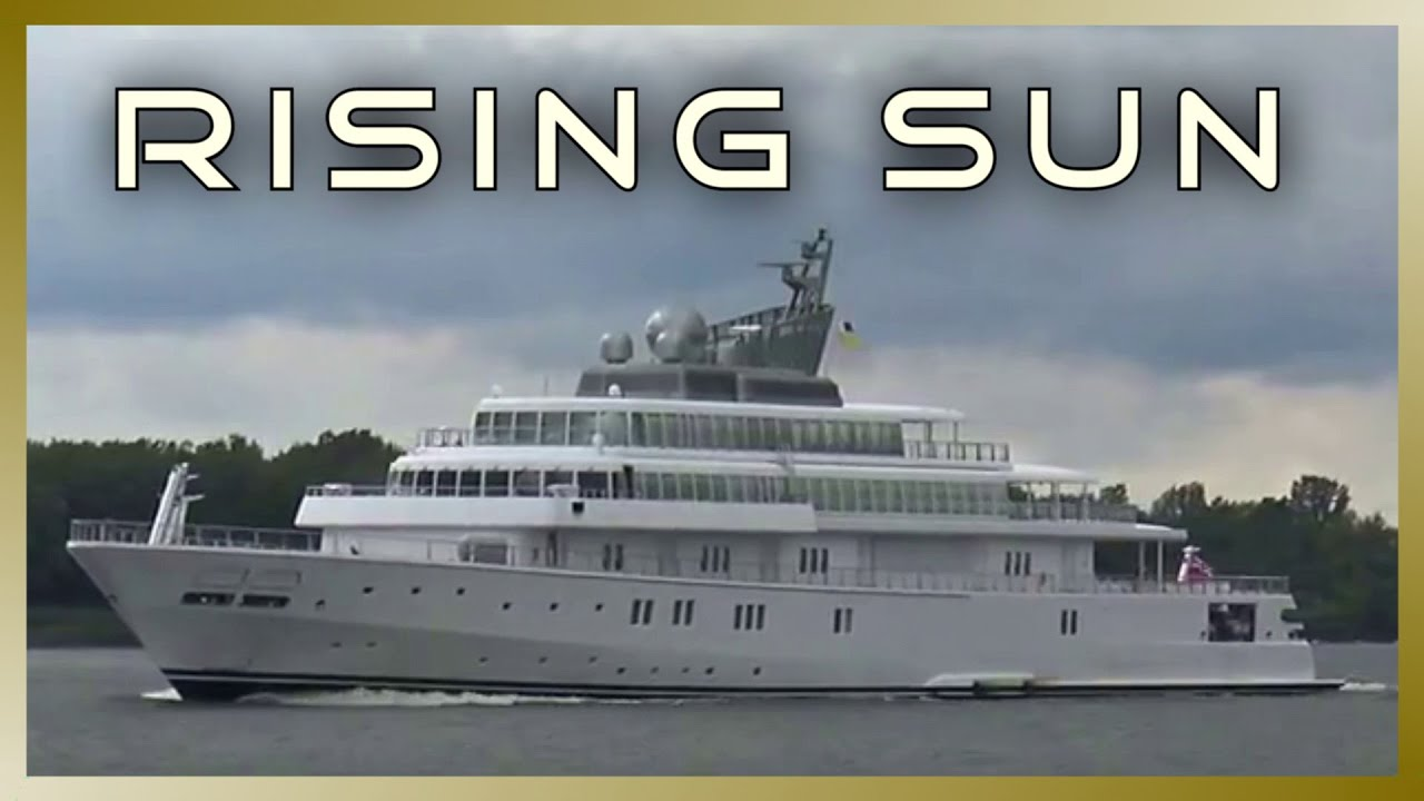 Superyacht Rising Sun On Elbe River Youtube