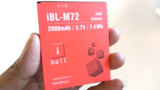 ORIGINAL iBL M72 BATTERY For iBall Andi Uddaan Mobile With 2000mAh