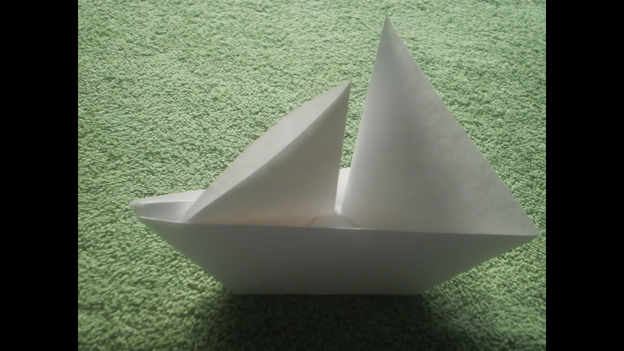 Origami Tutorial Sailboat