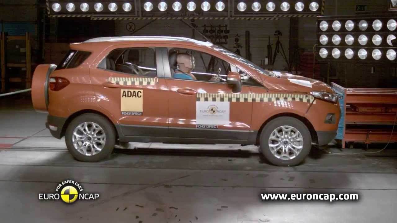 ford ecosport crash test euro ncap 2013 youtube. Black Bedroom Furniture Sets. Home Design Ideas