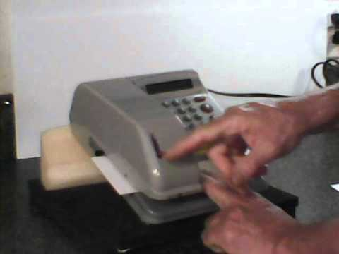 PC-16 Electronic Check Writer