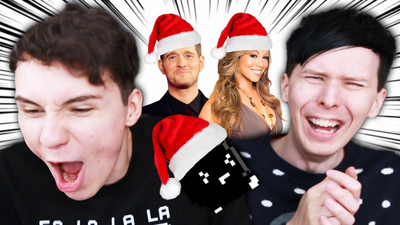Dan And Phil Christmas Sweater.Dan And Phil Sing Christmas Songs Yasuhati