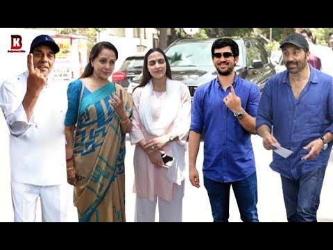 Deol Family: Sunny, Bobby, Hema, Isha, Dharmendra, Karan Casts Their For Vote 2019 Election