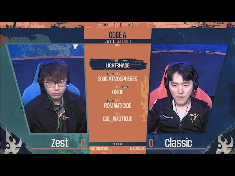 [2021 GSL S3] Code A Day1 Match1 Zest vs Classic