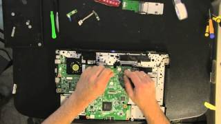 DELL 1545 laptop take apart video, disassemble, how to open disassembly