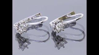 Золотые серьги с бриллиантами Инна