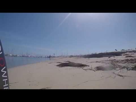 Solowheel ride from Stearns Wharf to Santa Barbara Harbor on Low Tide Beach