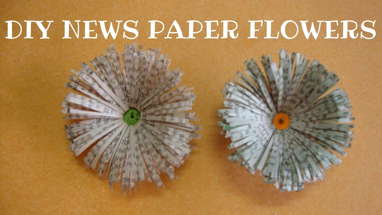 Newspaper flowers