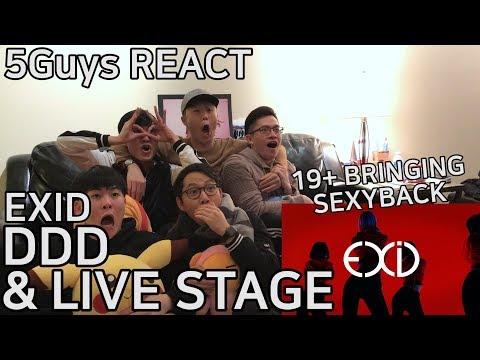 [THIRSTY FANBOYS] EXID - 덜덜덜 (DDD) & LIVE STAGE (5Guys MV REACT)