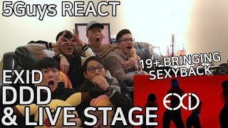 [THIRSTY FANBOYS] EXID - 덜덜덜 (DDD) & LIVE STAGE (5Guys MV REACT)