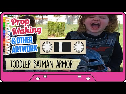 KIDS BATMAN ARMOR IN EVA FOAM - Infant Batman cosplay build