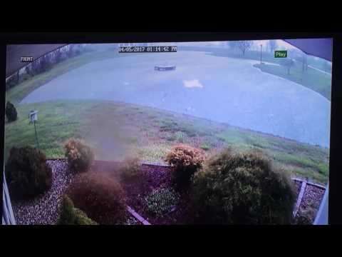Security Cameras Capture Impact of Tornado on Carbondale, Illinois, Home Part 3