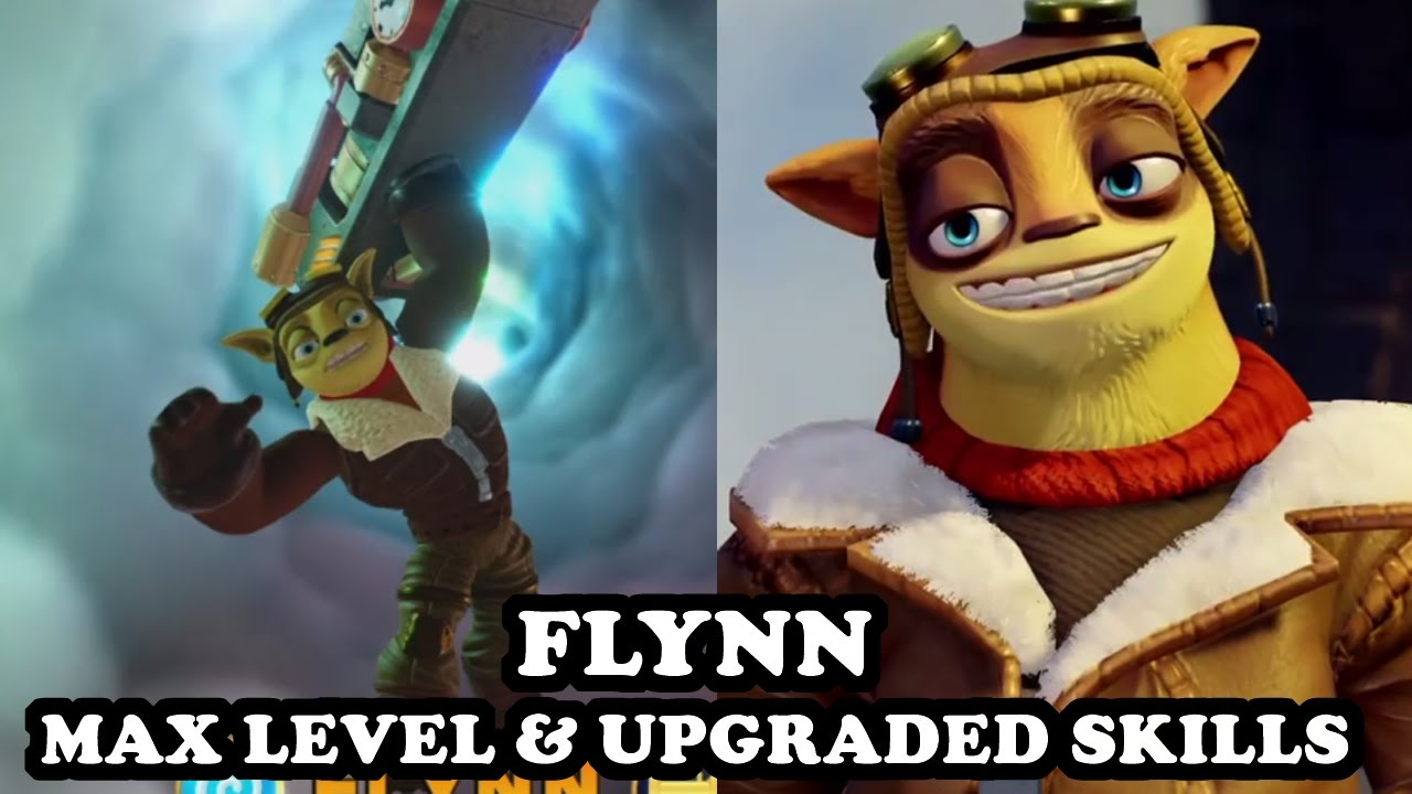 Skylanders Imaginators - Flynn (Air Bazooker) MAX LEVEL & UPGRADED SKILLS -  GAMEPLAY
