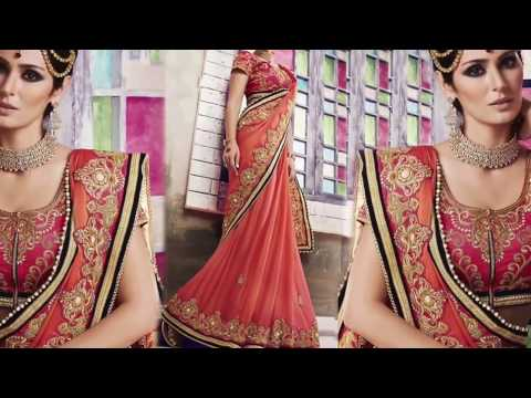 image of Party wear Sarees youtube video 2