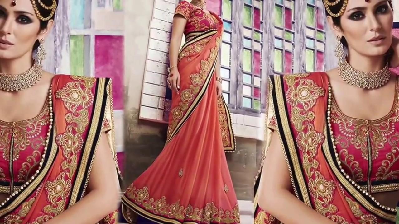 ae371e22c734d1 Women's Party Wear Sarees: Fancy Designer Sarees & Stylish Half Sarees  Designs   DESIGNERS AND YOU