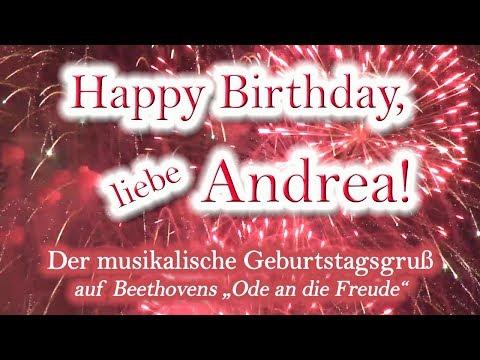 Happy Birthday, liebe Andrea! Alles Gute zum Geburtstag!