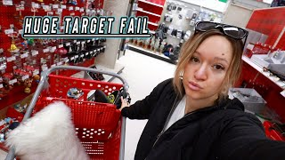 target shopping fail! vlogmas day 9