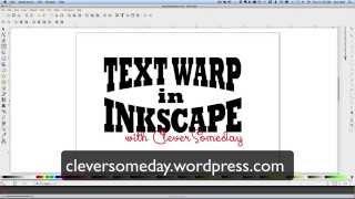Text Warp in Inkscape