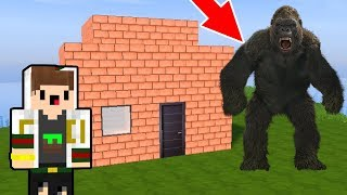DESAFIO DA BASE VS KING KONG DO MINECRAFT!! SOBREVIVEMOS OU FOMOS DEVORADOS?