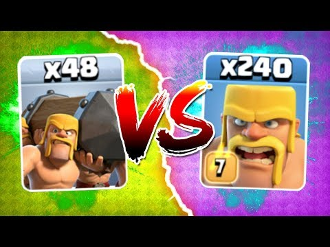 ALL BATTLE RAMS vs 240 BARBARIANS! 🔥 SHOCKING OUTCOME!? 🔥 Clash Of Clans