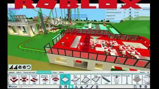 Construindo um KFC em Roblox Theme Park Tycoon 2