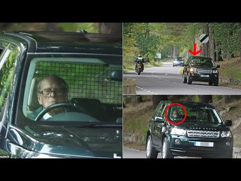 Duke's still king of the road! Prince Philip enjoyed a drive out on the A93 near Balmoral