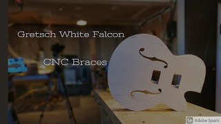 CNC Trestle Braces for the Gretsch White Falcon | F-Holes CNC milling
