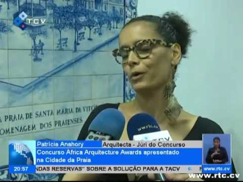 Africa Architecture Awards 2017 television coverage on the Cape Verde National News Channel