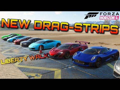 Forza Horizon 4 | Drag-Racing a Liberty Walk 650S on 4 different dragstrips!!