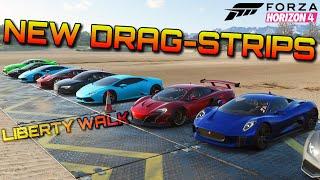 Forza Horizon 4   Drag-Racing a Liberty Walk 650S on 4 different dragstrips!!