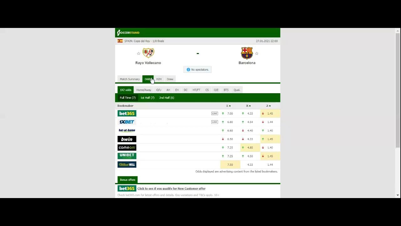 Rayo vallecano vs barcelona betting tips cryptocurrency exchange app iphone