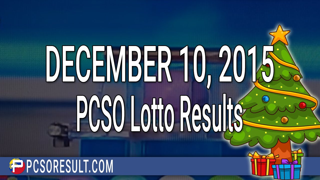 10 december 2016 lotto results