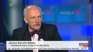 Ostra dyskusja z Januszem Korwin-Mikkem (Minęła 20, TVP Info, 16.11.2013)