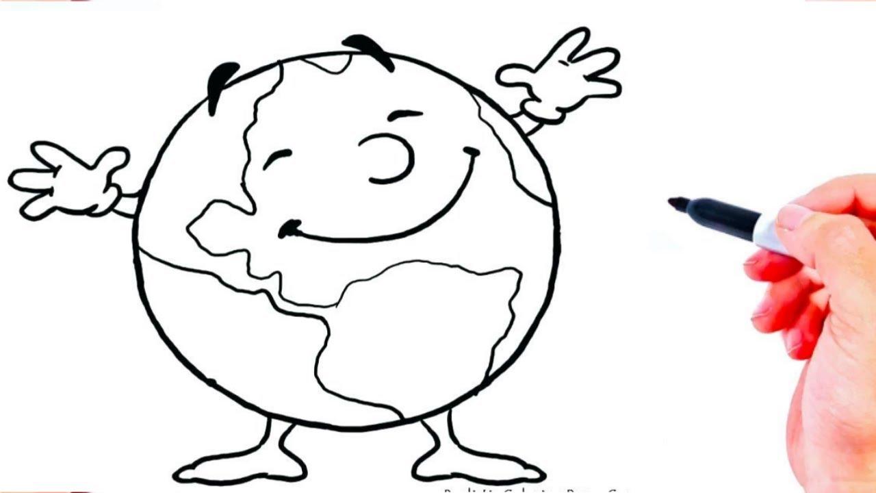 رسم سهل طريقة رسم الكرة الارضية للاطفال تعليم الرسم للاطفال رسومات بالرصاص تعلم الرسم Youtube In 2020 Art Fictional Characters Character