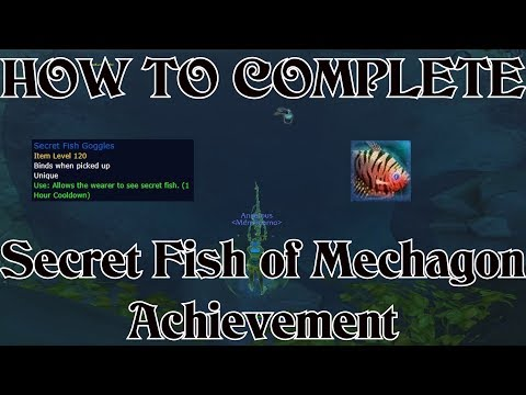 WoW BfA 8.2 How To Complete Secret Fish Of Mechagon Achievement - Secret Fish Goggles