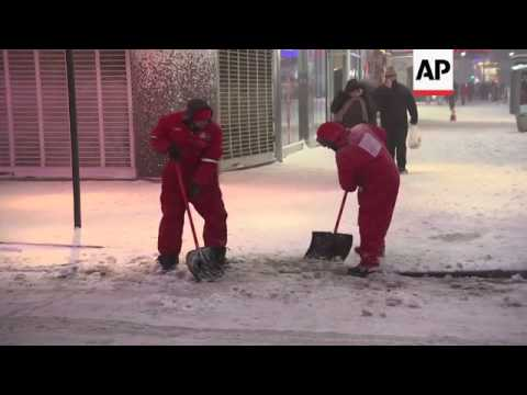 The New York City metropolitan area received between 6 to 11 inches of snow as the latest winter sto