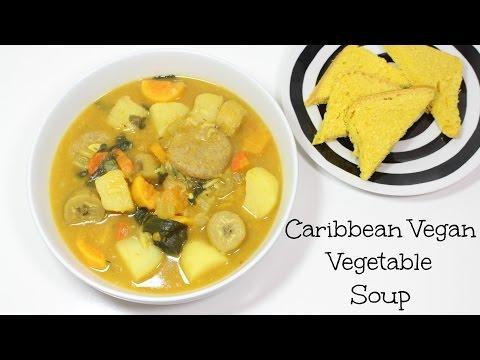 VEGAN CARIBBEAN STYLE VEGETABLE SOUP | QUICK & EASY