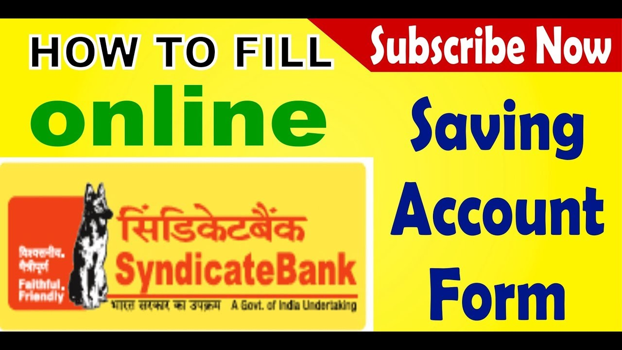 How To Open Syndicate Bank Online Saving Account Deposit