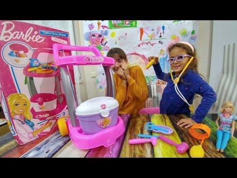 Barbie doktor servis arabası seti oyuncak kutusu açtık, eğlenceli çocuk videosu, toys unboxing