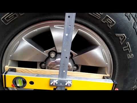 Homemade laser wheel alignment tracking device